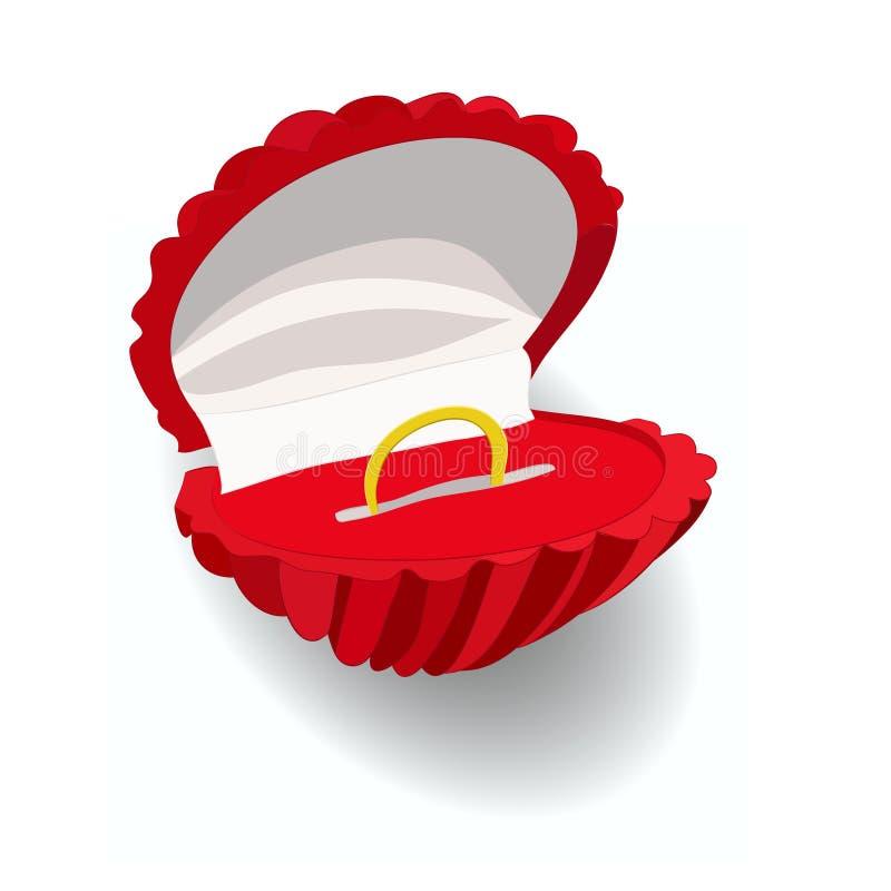 произведенное 3d венчание кольца изображения Сделайте предложение венчание бесплатная иллюстрация