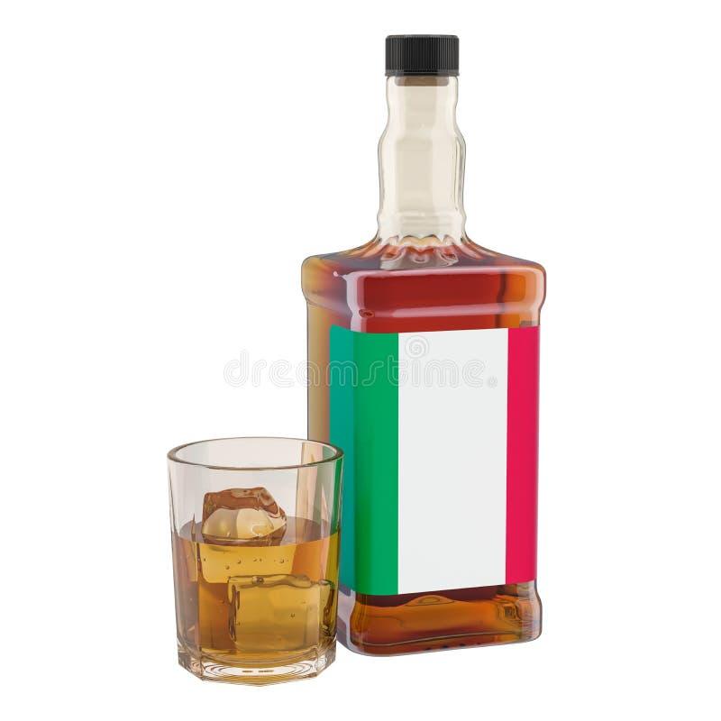 Производство и потребление напитков в Италии, концепции алкоголя r иллюстрация вектора