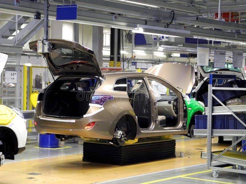 Производственная линия автомобиля стоковое фото rf