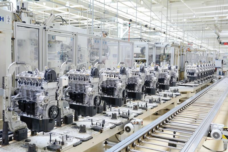 Производство двигателя стоковое фото rf