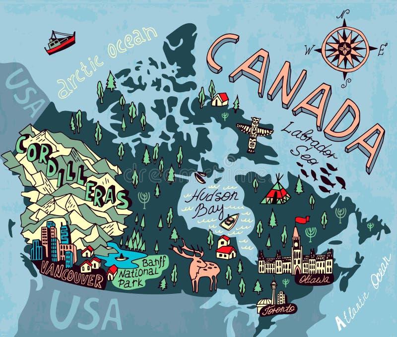 Проиллюстрированная карта бесплатная иллюстрация