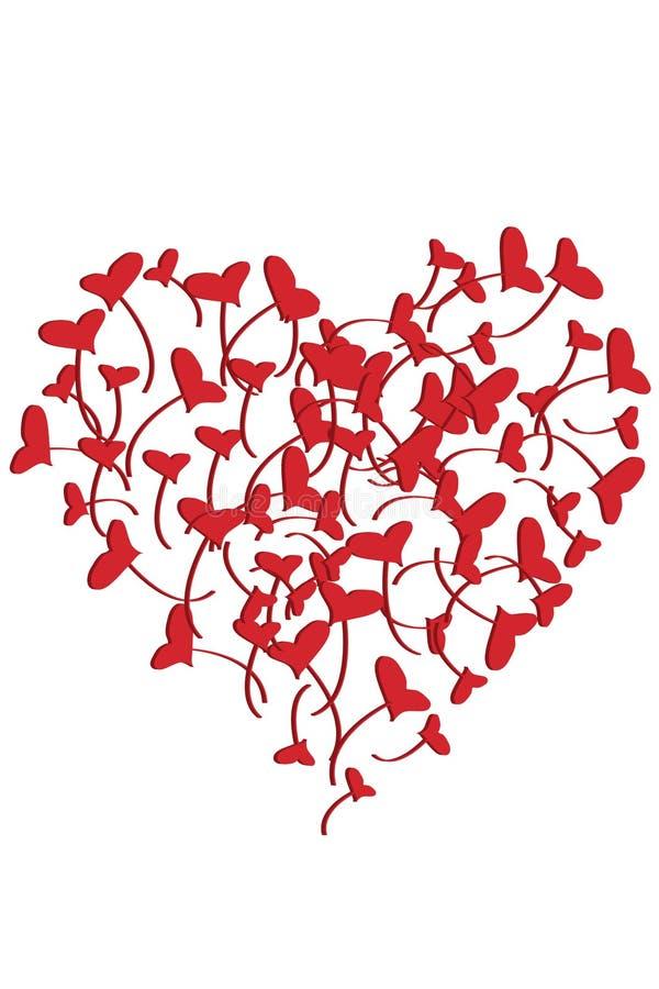 проиллюстрированные сердца иллюстрация штока