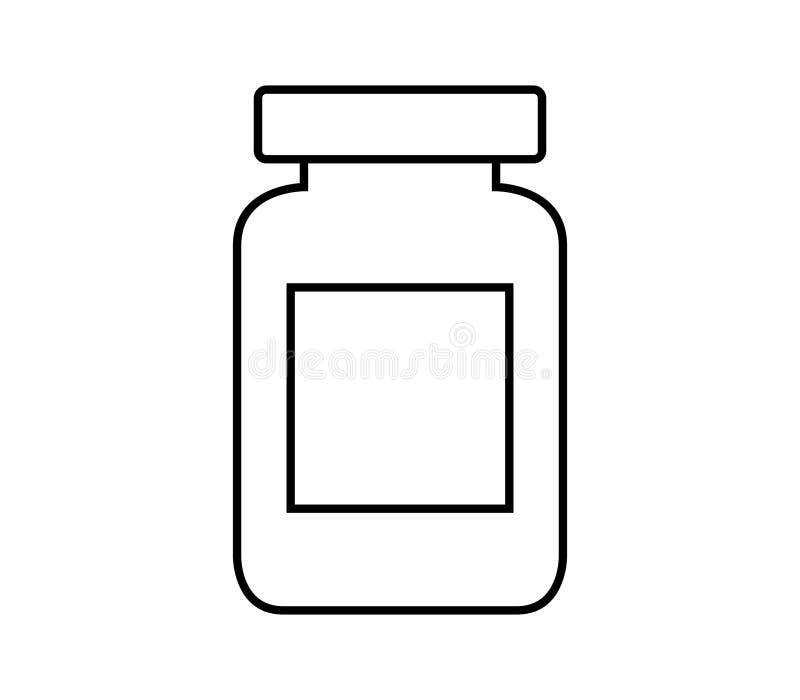 Проиллюстрированный значок опарника иллюстрация штока