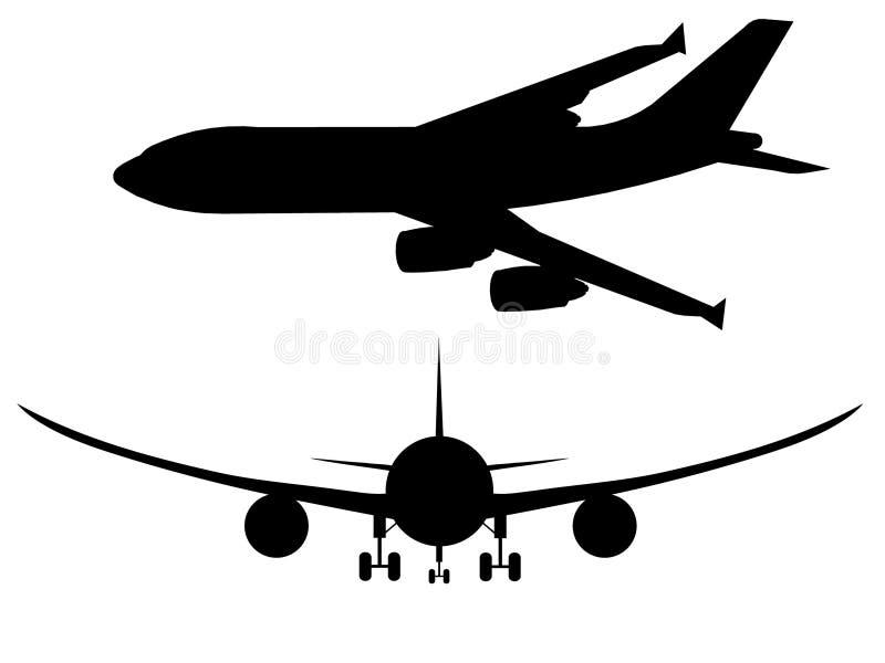 проиллюстрированный самолет иллюстрация штока
