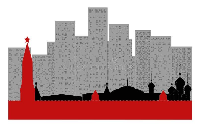 проиллюстрированный moscow иллюстрация вектора