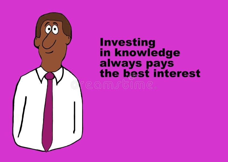 Проинвестируйте в знании бесплатная иллюстрация