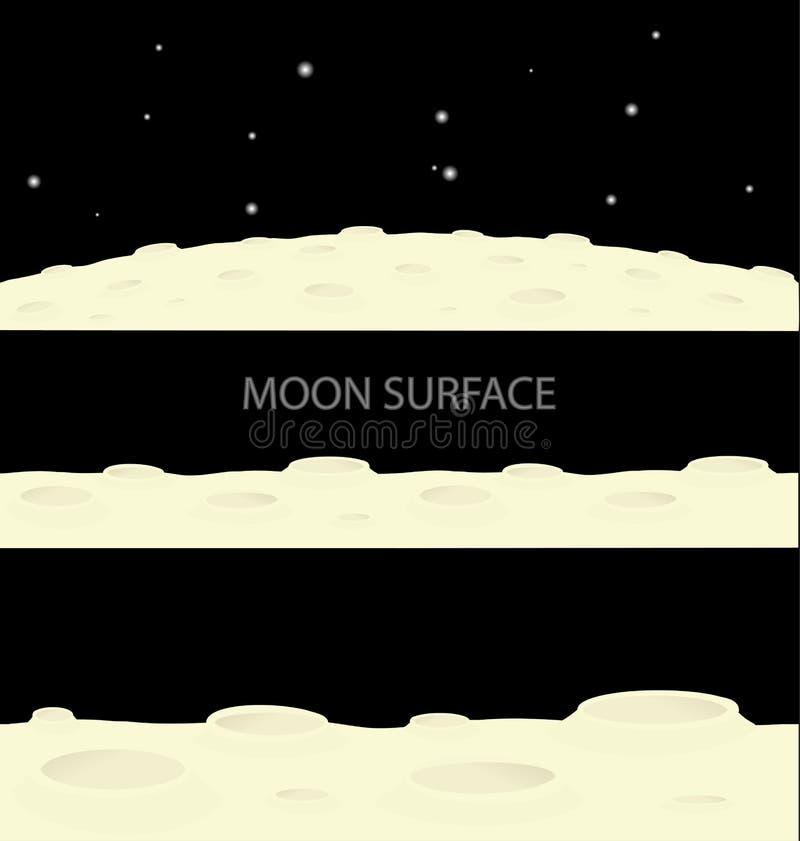 Поверхность луны иллюстрация вектора