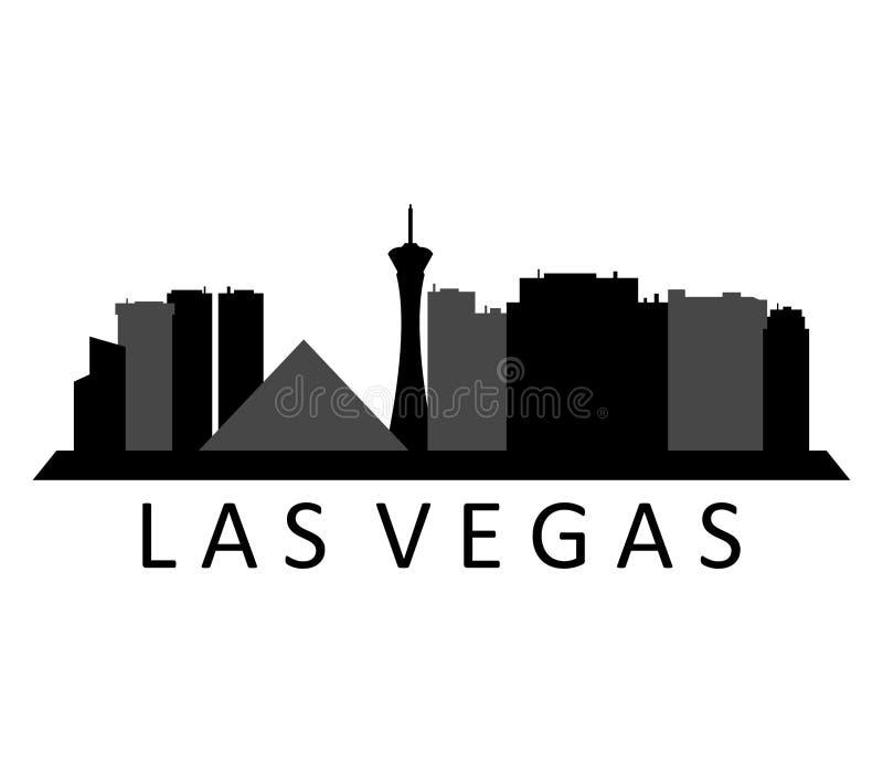 Проиллюстрированный горизонт Лас-Вегас иллюстрация вектора