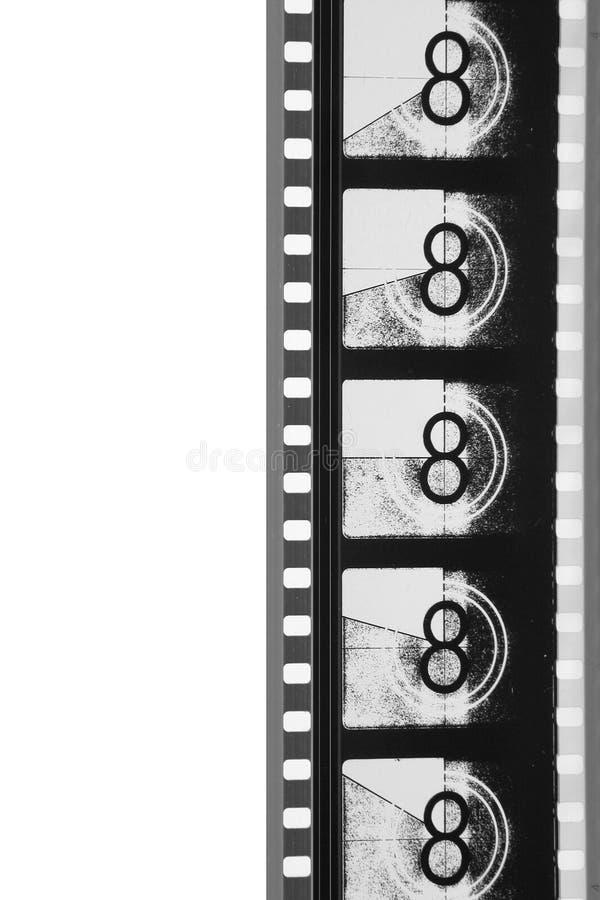 прокладка кино руководителя пленки черноты близкая вверх по белизне стоковое изображение rf