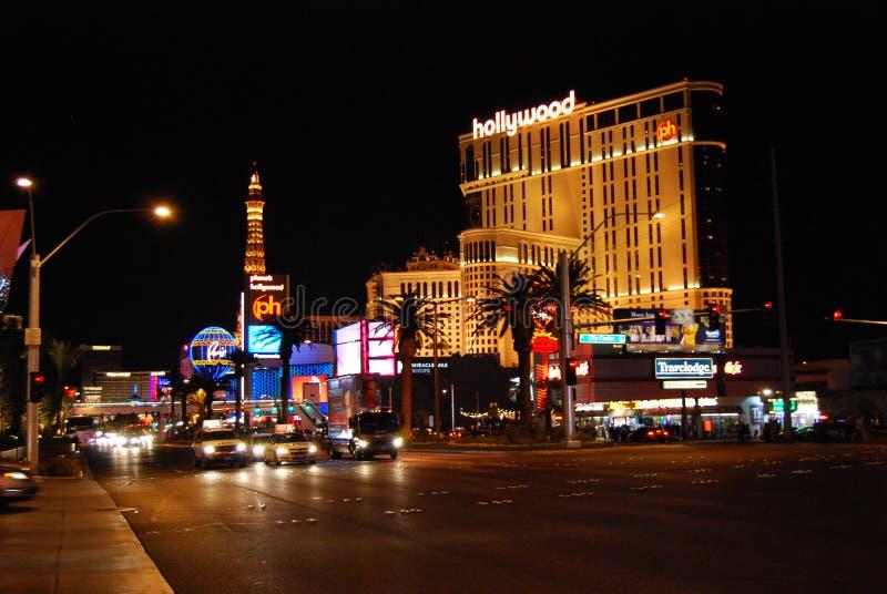 Прокладка Лас-Вегас, прокладка, Париж Лас-Вегас, гостиница Парижа и казино, международный аэропорт McCarran, курорт Голливуда пла стоковые изображения