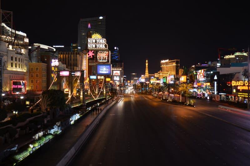 Прокладка, прокладка Лас-Вегас, прокладка Лас-Вегас, Лас-Вегас, район метрополитена, дорога, ноча, город стоковые изображения
