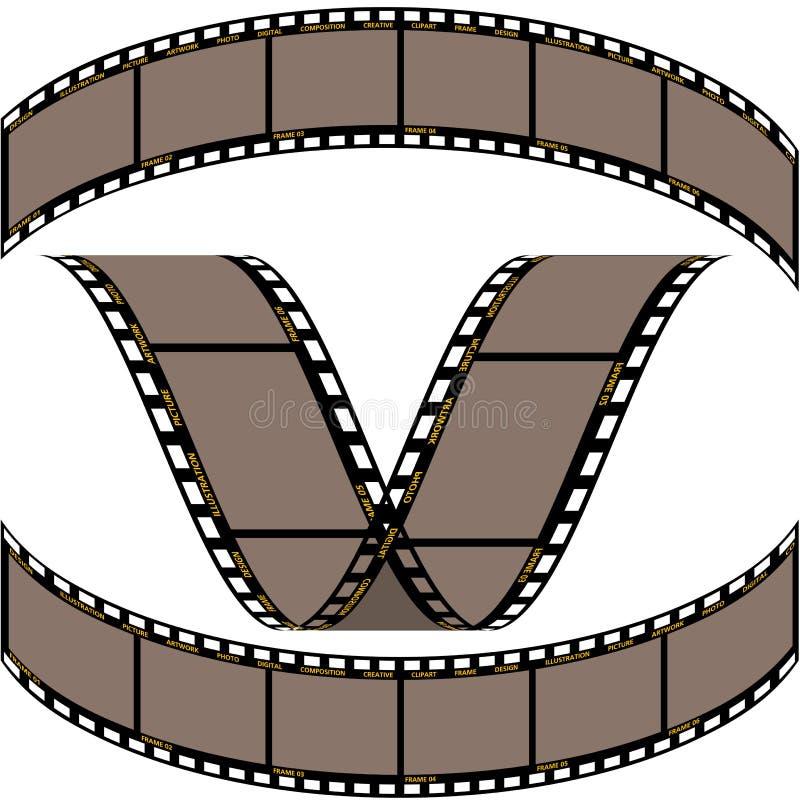 прокладка пленки b иллюстрация вектора