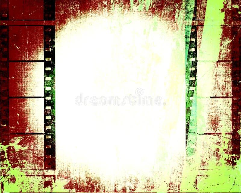 прокладка grunge пленки для транспарантной съемки иллюстрация штока