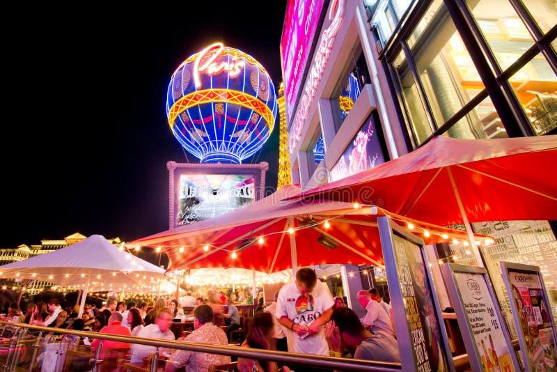 Прокладка Vegas на ноче стоковые изображения rf
