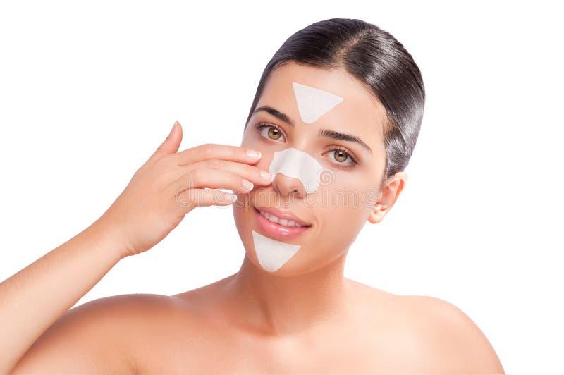 Прокладки Skincare стоковое изображение rf