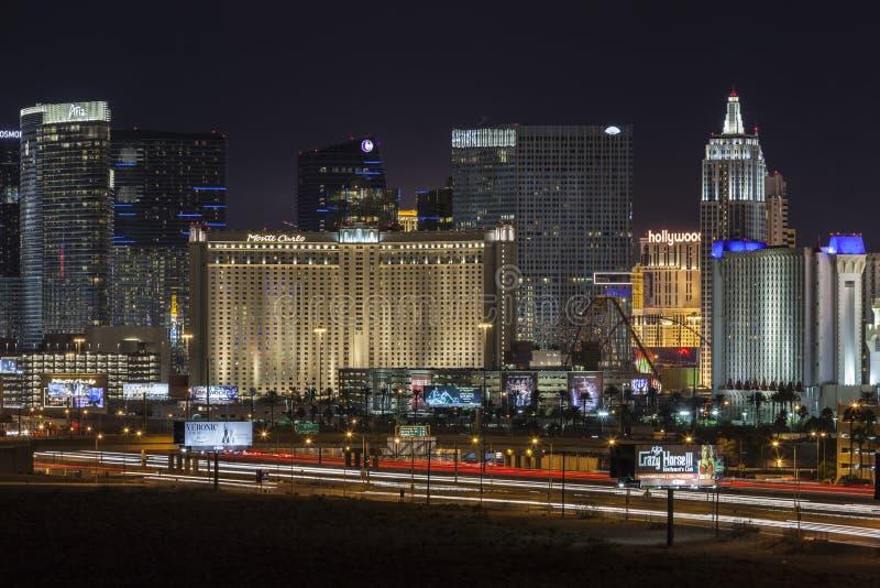 Прокладка и движение Лас-Вегас стоковое фото rf