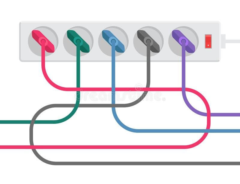 Прокладка и кабели силы бесплатная иллюстрация