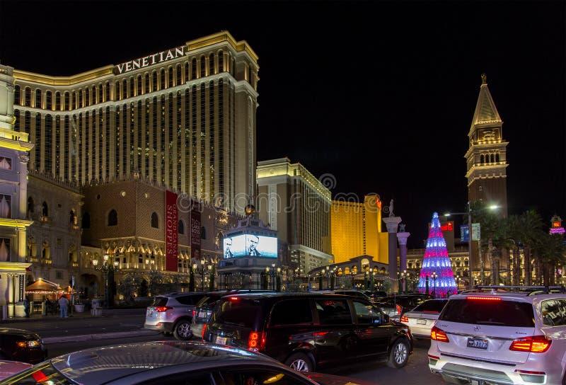 Прокладка Лас-Вегас на рождестве стоковое изображение