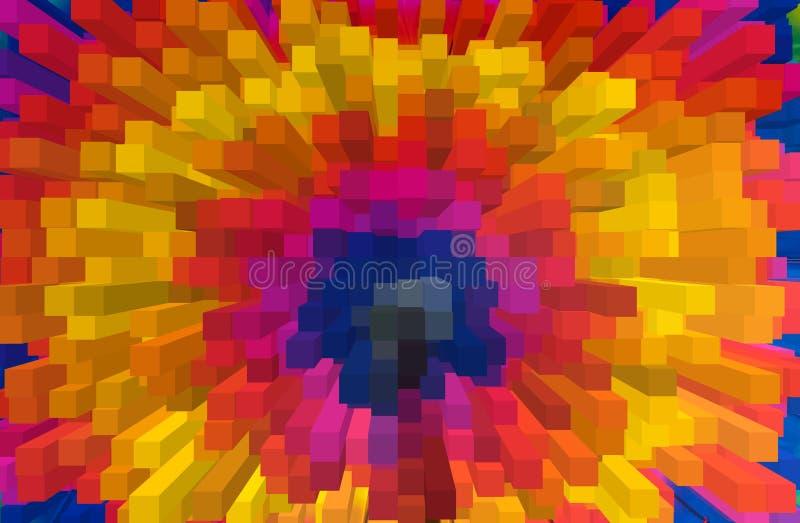 Прокладки искусства абстрактной радуги красочные стоковая фотография