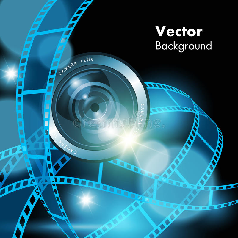 Прокладки и объектив фотоаппарата фильма бесплатная иллюстрация