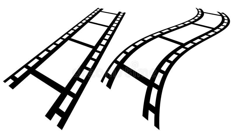 Download Прокладки фильма в перспективе Прямо и передернутое Filmstrip Иллюстрация вектора - иллюстрации насчитывающей камера, икона: 81806198