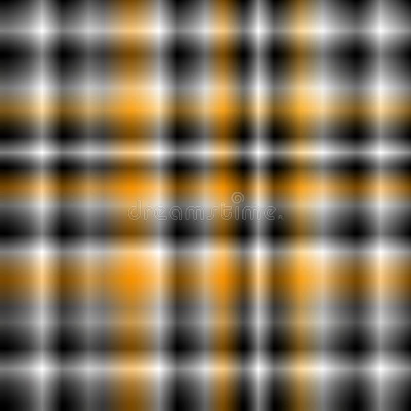 Прокладки Blured или квадратные предпосылка или картина с белизной, черные серое и оранжевый бесплатная иллюстрация