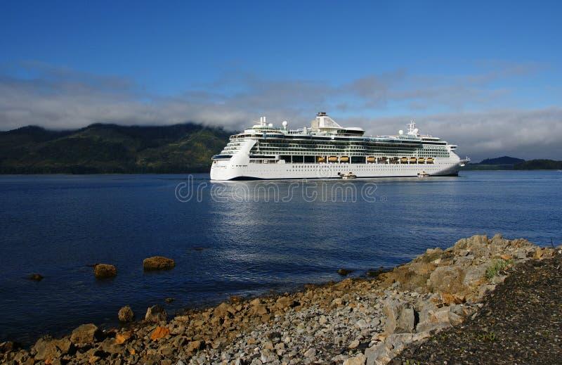пролив корабля пункта круиза Аляски ледистый стоковая фотография
