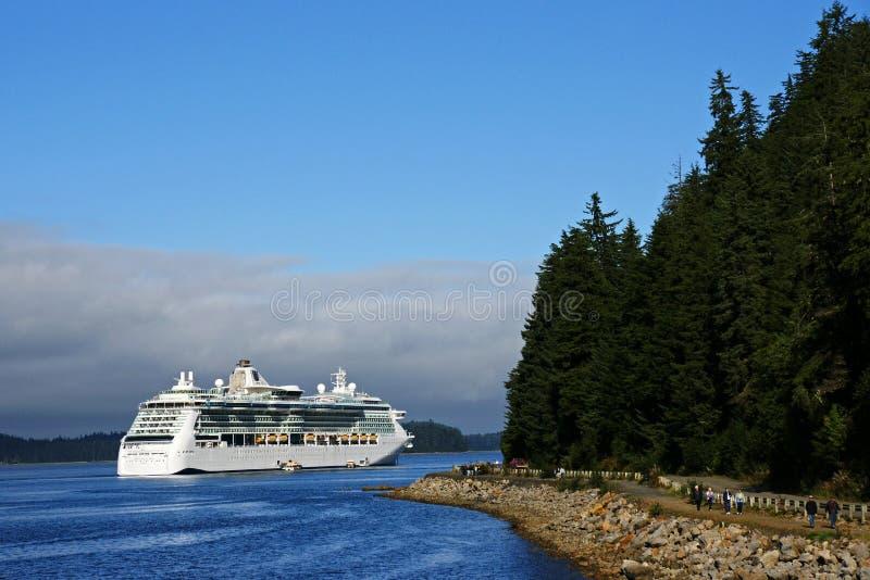 пролив корабля пункта круиза Аляски ледистый стоковая фотография rf
