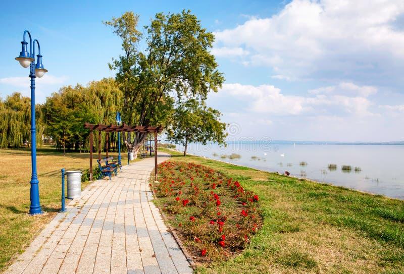 Променад на озере Balaton стоковая фотография rf