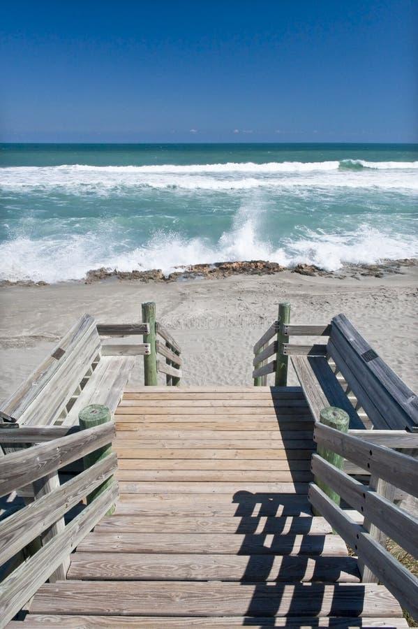 променад пляжа к стоковое изображение