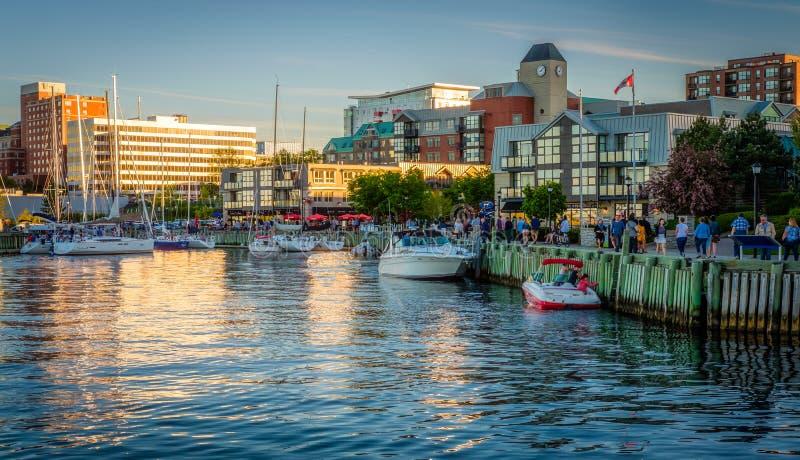 Променад портового района, Halifax, Новая Шотландия, Канада стоковые фотографии rf