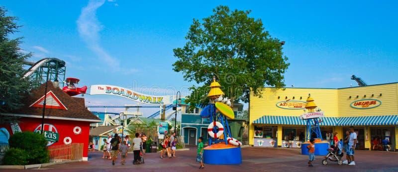 Променад на Hersheypark, PA стоковое фото