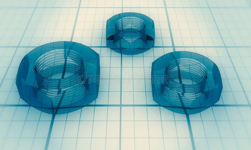 Промышленная иллюстрация концепции стоковая фотография rf
