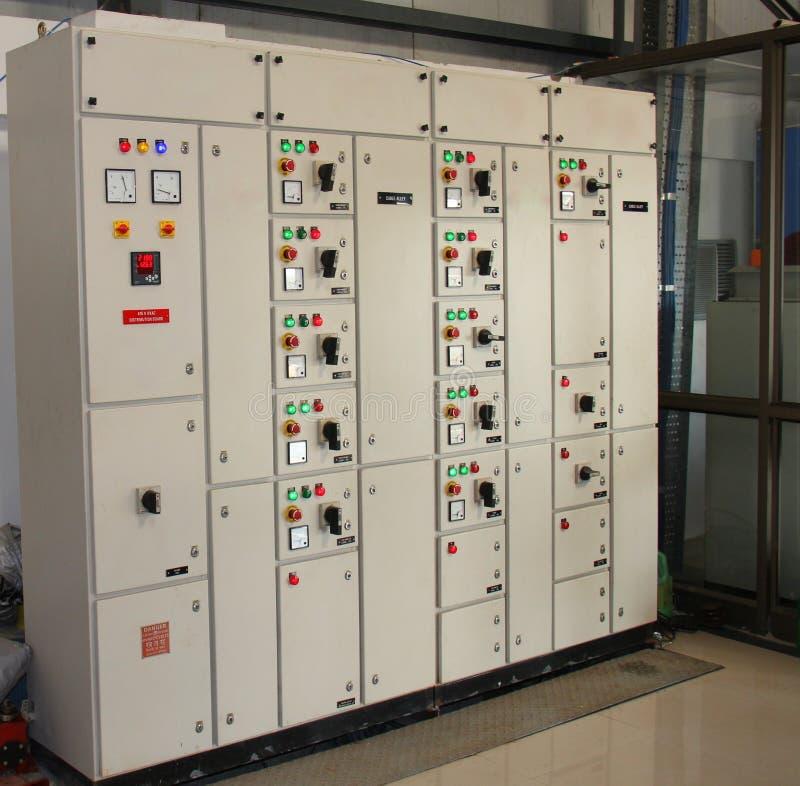 Промышленная контрольная панель стоковое изображение