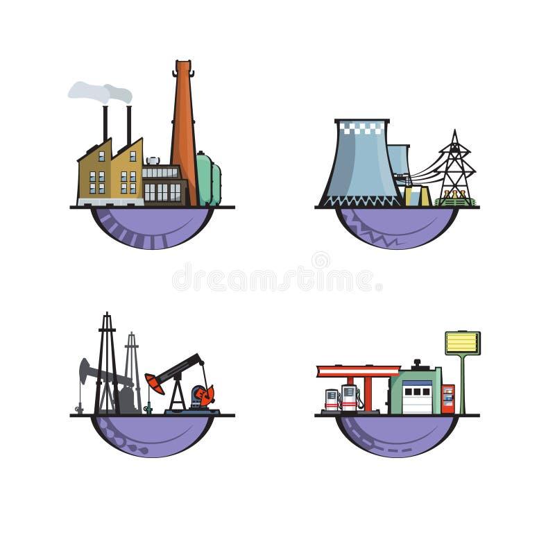 промышленная структура логосов иллюстрация штока