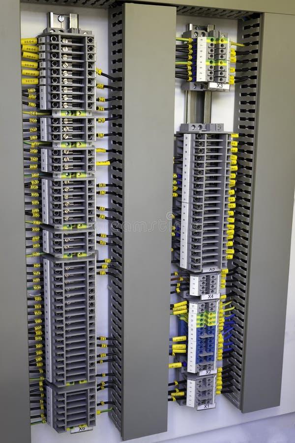 Промышленная электрическая кабина стоковая фотография rf