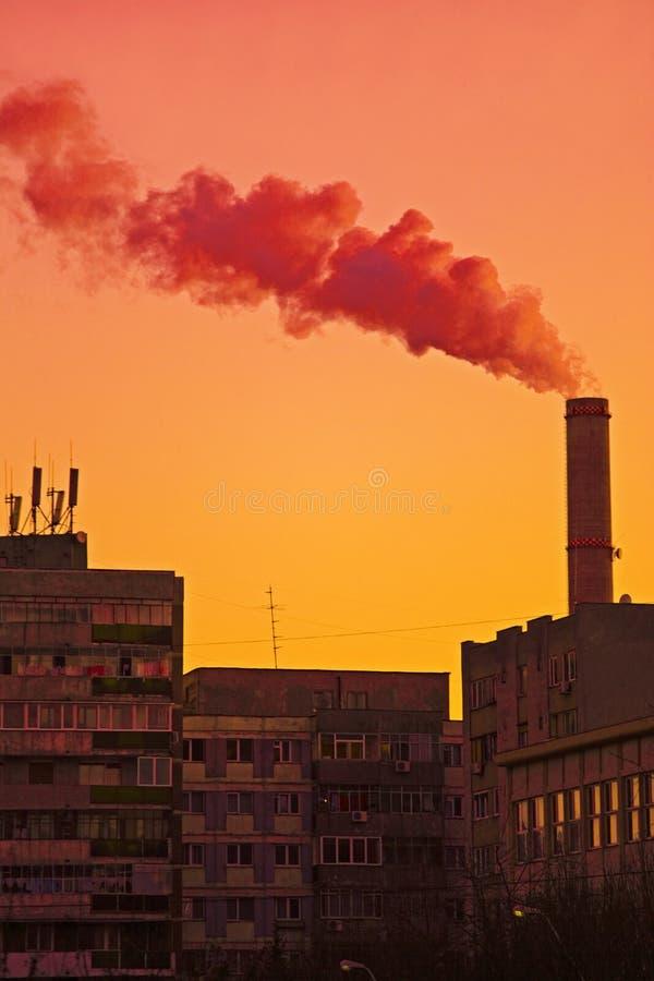 промышленное загрязнение стоковое фото