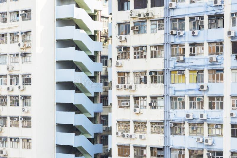 Промышленное здание в городе Гонконг стоковые фото