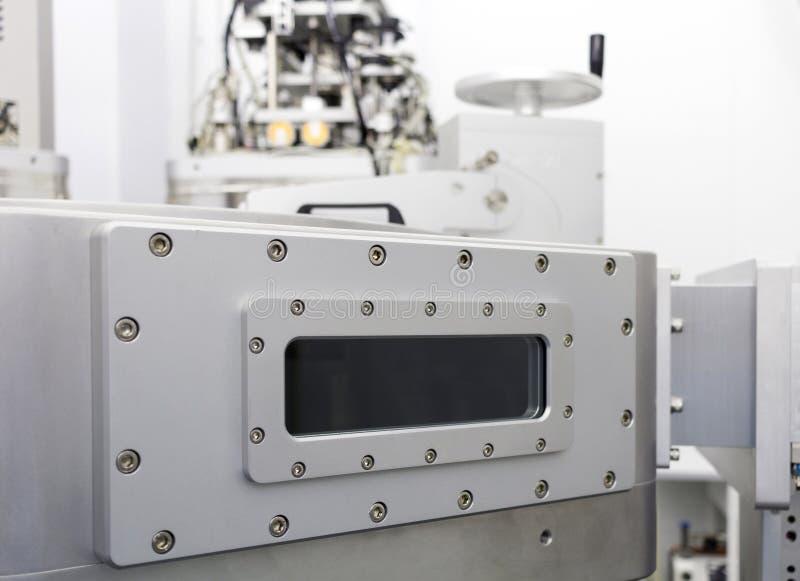 Промышленное оборудование прибора вакуума лаборатории научных исследований и разработки стоковое изображение rf