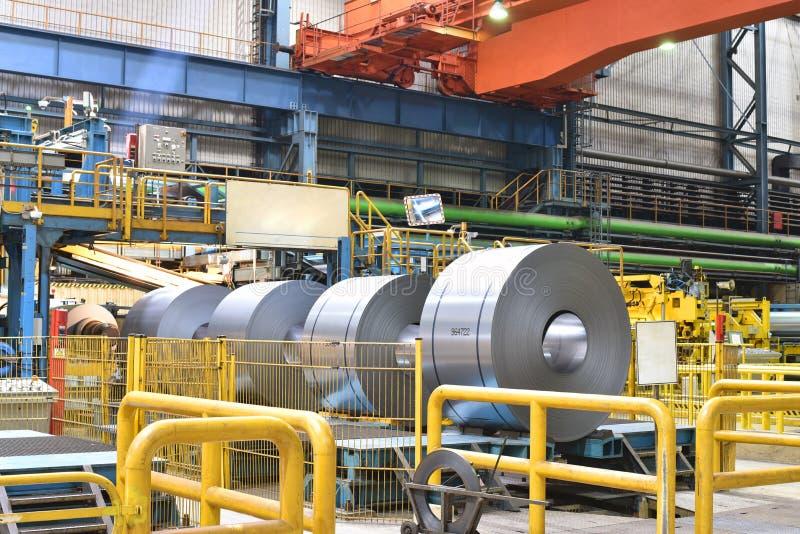Промышленное предприятие для продукции металлического листа в сталелитейном заводе стоковое фото