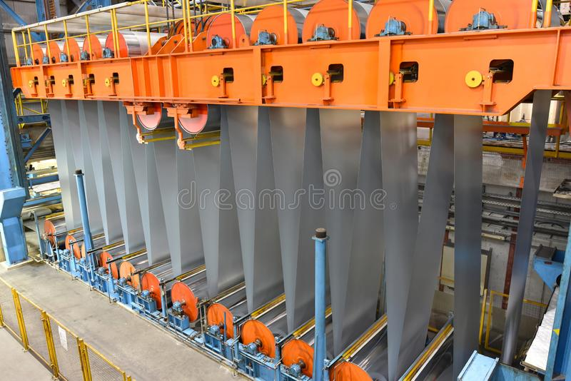 Промышленное предприятие для продукции металлического листа в сталелитейном заводе стоковое фото rf