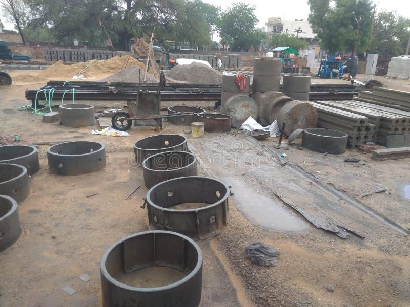 Промышленное предприятие продуктов цемента в Индии Раджастхане стоковые фото