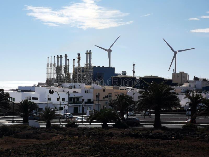 Промышленные ветротурбины стоковое фото rf