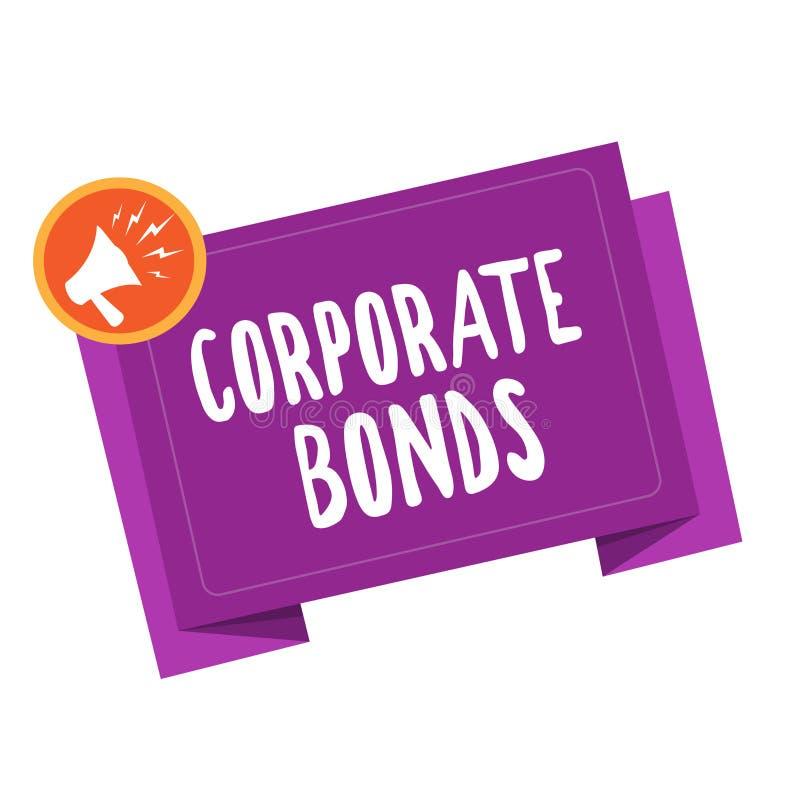 Промышленные облигации сочинительства текста почерка Корпорация смысла концепции для того чтобы поднять финансирование для разноо бесплатная иллюстрация