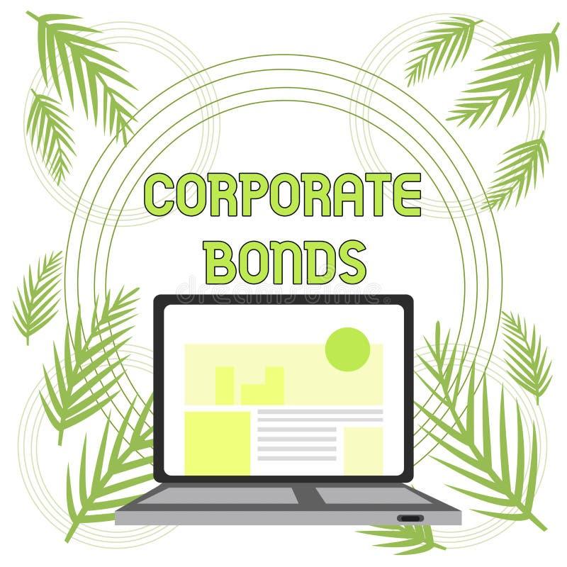 Промышленные облигации текста почерка Корпорация смысла концепции для того чтобы поднять финансирование для разнообразия современ бесплатная иллюстрация