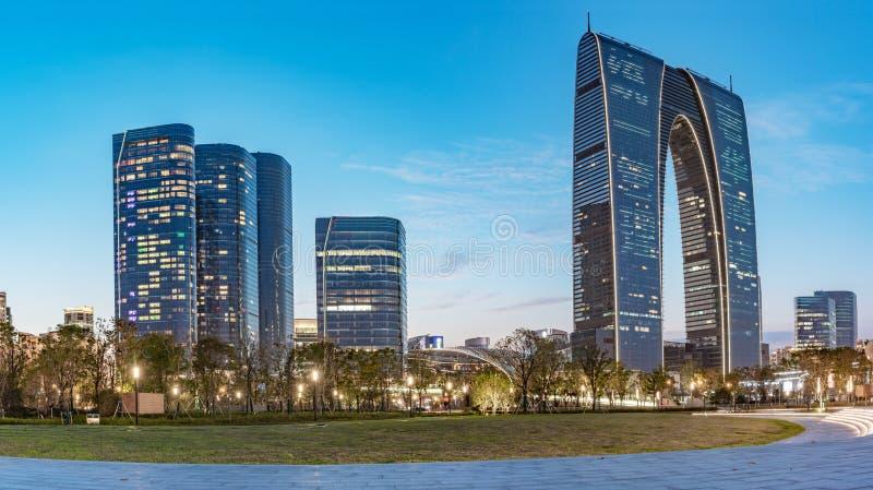 Промышленный парк CBD Сучжоу стоковые фото