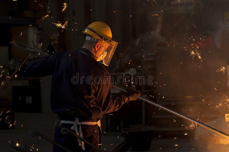 промышленный работник стоковое фото rf