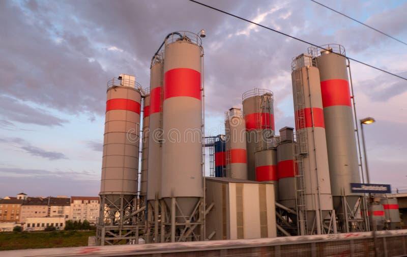 Промышленный район в Германии стоковые изображения rf