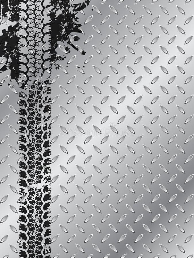 Промышленная брошюра с следом автошины grunge бесплатная иллюстрация