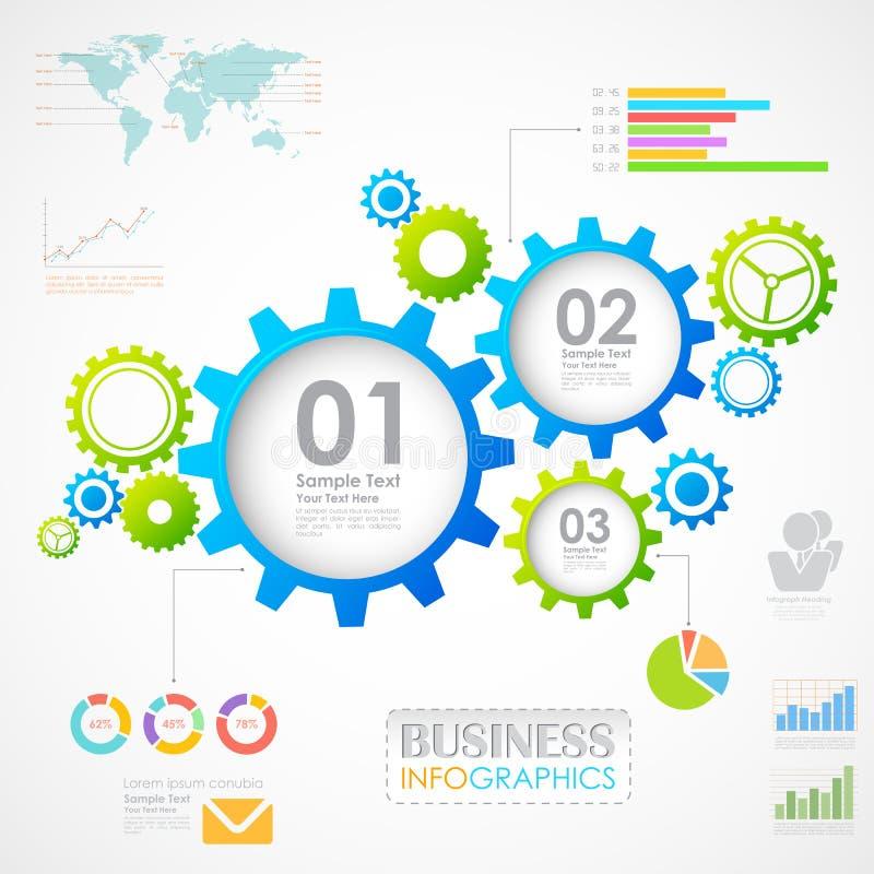 Промышленная диаграмма Infographics